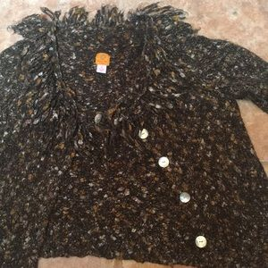 Ruby Rd. Sweaters - Brown Fall Funky Sweater